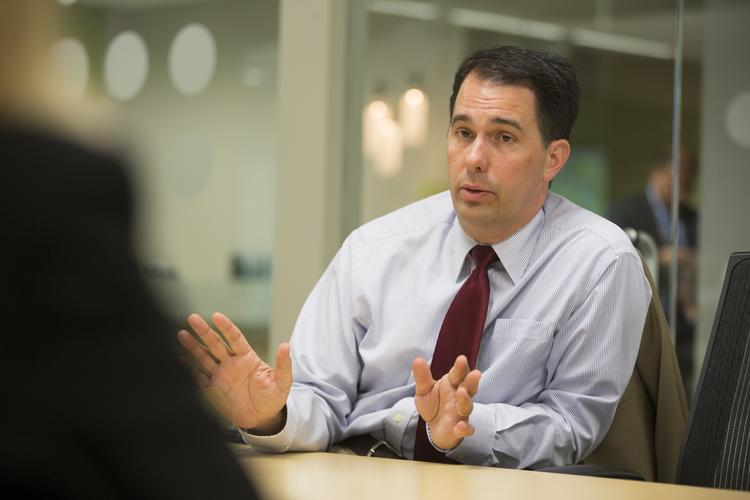Wisconsin Gov. Scott Walker, speaking with the editorial board of The Business Journal, says the fall legislative agenda will focus on work force development efforts.