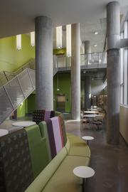 University Pointe at Portland State University is a residential campus community with floor-to-ceiling views of downtown Portland and an emphasis on sustainability.