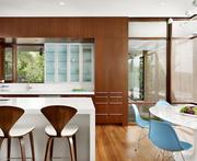 The Lakeview residence features carefully detailed cabinetry and bold lines.