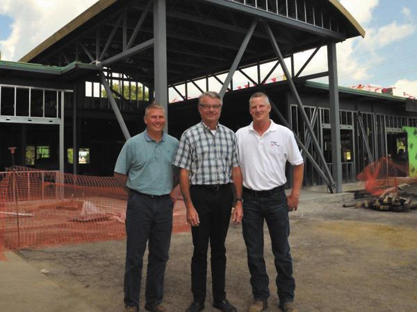 Expansion: (Left to Right) Scott Richardson, CFO and vice president of George Steel Fabricating; John George, president and CEO; and Kevin Nickell, vice president and COO.