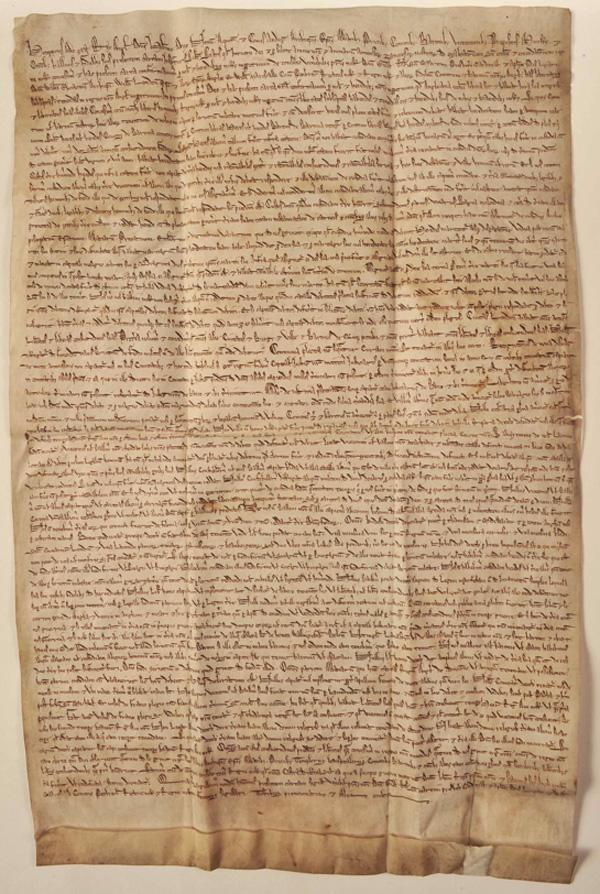 An original edition of the Magna Carta will be on display at the Houston Museum of Natural Science from Feb. 14 to Aug. 17 of next year.