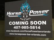 Here's a look at the signs on the windows of the former Pipers Sports Bar & Grill at Chase Plaza in downtown, soon to be Horse Power Bar & Grill.
