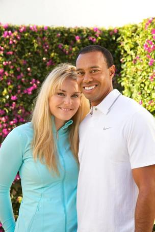 Lindsey Vonn and Tiger Woods announced their relationship on Monday and posted pictures on Facebook. The Nike logo on Woods' shirt is clearly more visible than the Under Armour logo on Vonn.