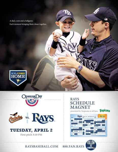 Opening day schedule magnet