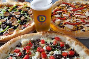 Dewey's Pizza has several specialty pizzas on its menu with names such as the Bronx Bomber and the Edgar Allan Poe.