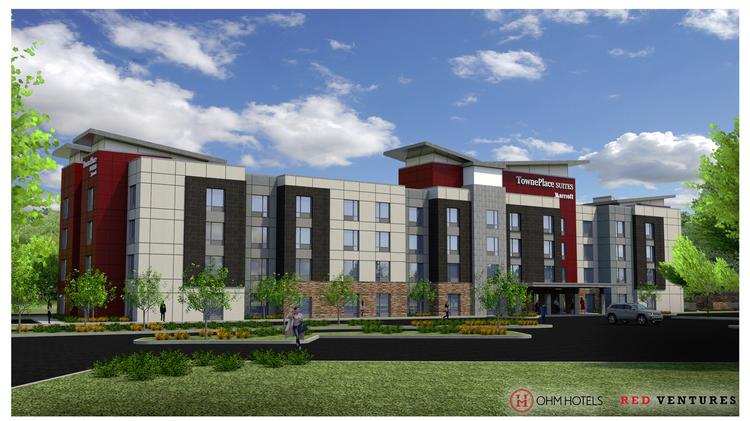 A 105 Room Towneplace Suites By Marriott Is Under Construction Near The Entrance Of Red