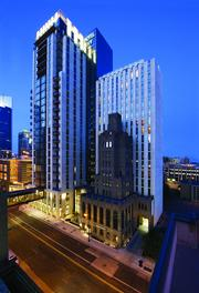 The Hotel Ivy was developed about six years ago was built to encompass a 1930s-era office building called Ivy Tower (foreground).