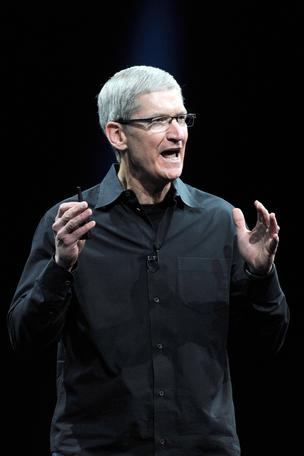 Tim Cook, chief executive officer of Apple Inc. Bloomberg photo.
