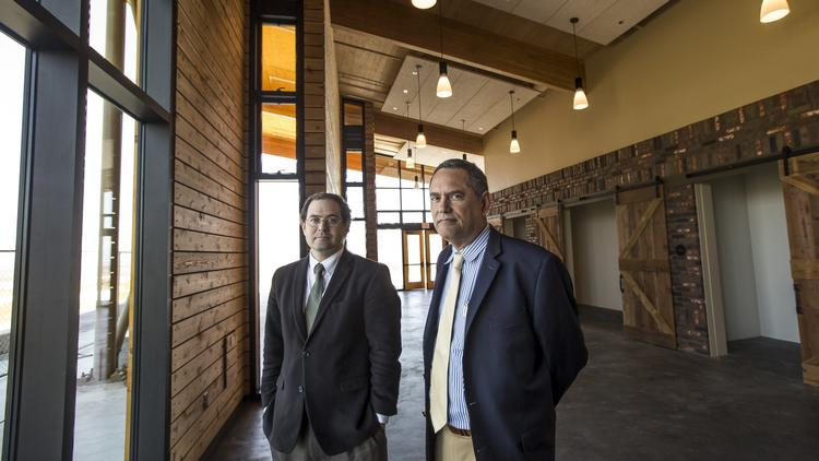 Assistant City Manager Sean Charpentier, Left, And City Manager Carlos  Ramirez, Inside The