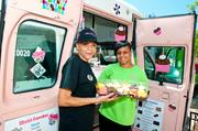 Mother Cindy, left, and daughter Olivia Bullock are seeing more traffic at their Olivia's Cupcakes food truck.