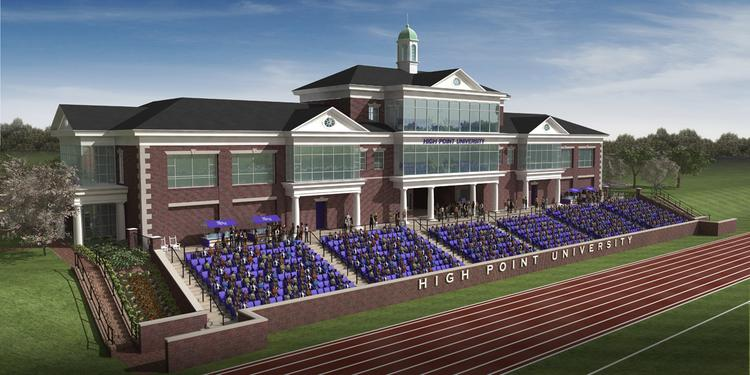 The planned Athletic Performance Center at High Point University