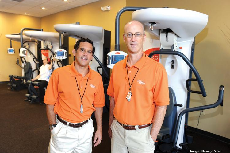 Koko FitClub owners Keith Greenspon (left) and Rob Calder foresee rapid growth for their franchise in Charlotte.