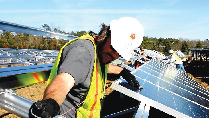 Strata Solar expects the 65-megawatt farm, three times the size of the largest solar project in the state, to take about 10 months to build once construction starts.