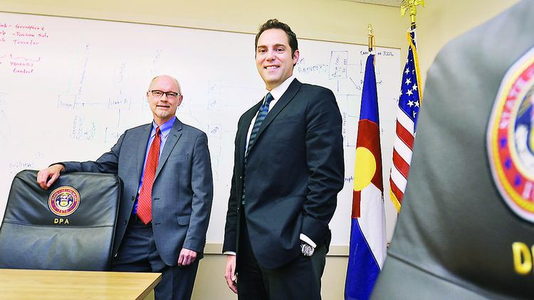 Judson Byrn, (left) state purchasing director, and David Musgrave, supplier diversity liasion, for the State of Colorado Department of Personnel & Administration.