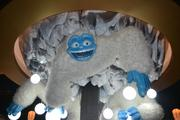 The chandelier in the lobby features a yeti in recognition of Colorado's mountains.