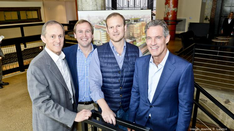 The developer and their brokers were, from left, Brookfield's Greg Meyer, CBRE's Mark Klug, Douglas' Norman Jemal and CBRE's Randy Harrell.