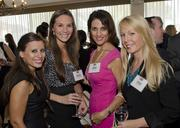 Branka Daravong, Mattie Hangemeier, Andee Bunten, Shana Alegria at the 40 Under 40 celebration at Brookhaven Country Club.