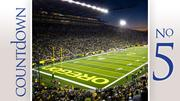 University of Oregon Conference: Pac 12 Overall score: 7.219 Average attendance: 58,741 3-year revenues: $109,140,915