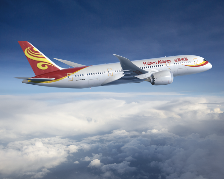 Hainan Airlines expects to introduce a Boeing Dreamliner by year's end on its new nonstop route between Chicago and Beijing.