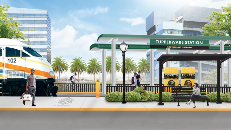 SunRail is breaking ground this week on its new Tupperware station.