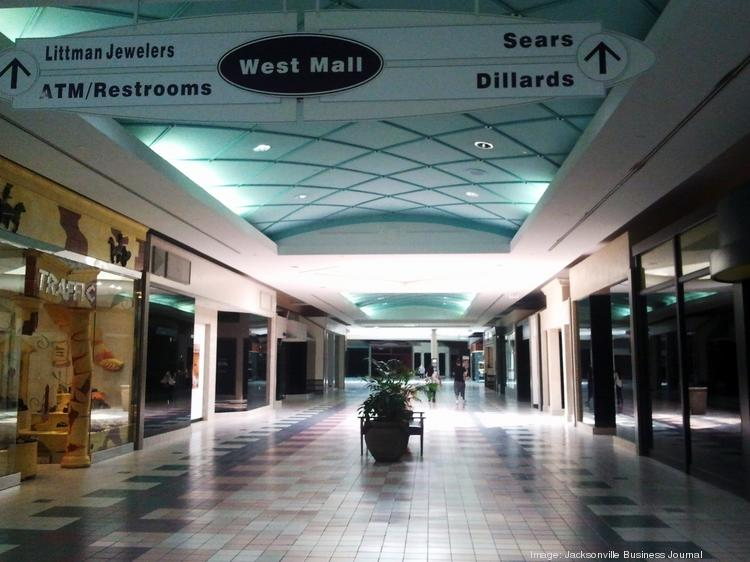 A lone shopper in the main hallway of Regency Square Mall one recent afternoon.