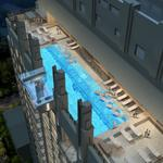 Luxury apartment tower ups amenity ante with city's first glass-bottom sky pool