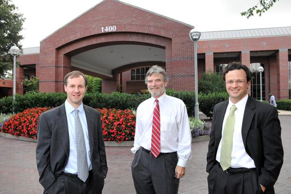 Matt Weathersby, Larry Jensen and Jeb Fields are focusing more on the needs of health care facility users, a growing trend in local real estate.