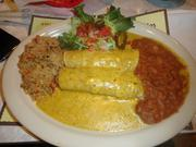 The Chicka-Chicka Boom-Boom enchiladas are a recommended menu favorite.