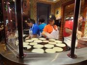 Tortillas are freshly made in the restaurant.
