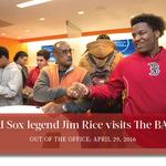 Out of the Office, April 29, 2016: Red Sox legend/Hall-of-Famer Jim Rice reaches The BASE