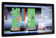 This touchscreen allows building operators to monitor energy use from heating and cooling units, lights and devices plugged into wall outlets.