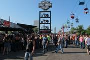 It was crowded by 5 p.m. at the Summerfest grounds on the opening day of Harley-Davidson's 110th anniversary party in Milwaukee.