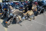One of the many unique Harley-Davidson motorcycles at the 110th anniversary in Milwaukee.