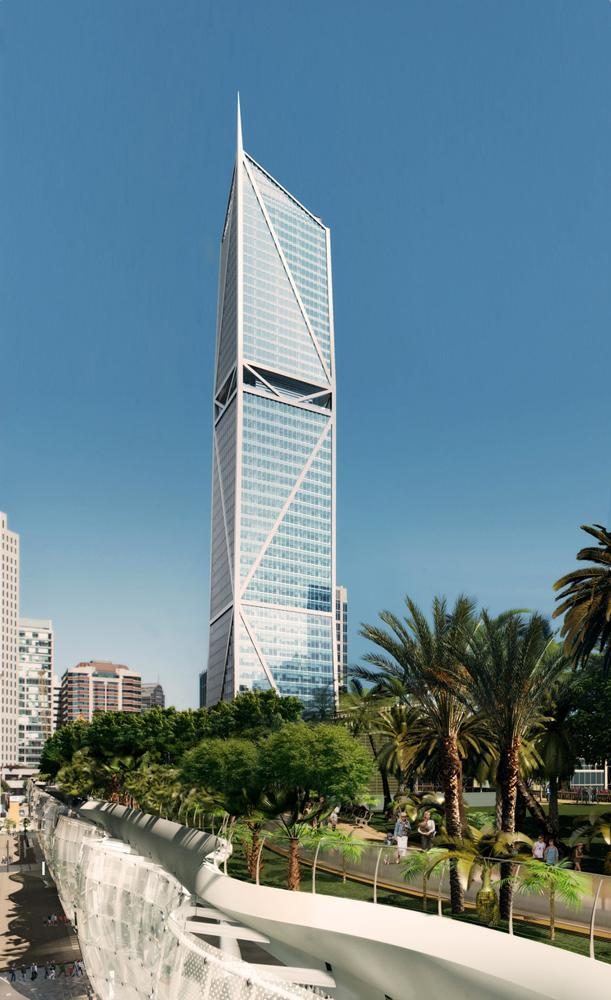 The tower at 181 Fremont St. will reach 800 feet, making it the city's second tallest when completed.