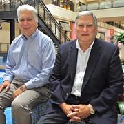 (L to R) Walt Plonski and John Badagliacco, current and former GM, respectively, of North Star, one of San Antonio's retail icons.