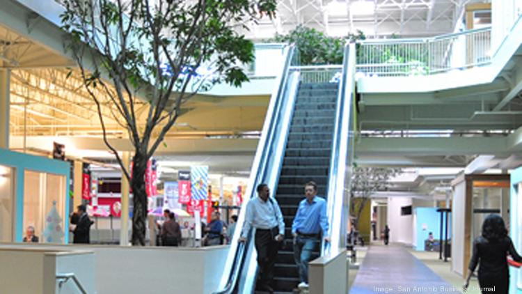 This escalator is one way Rackspace honors its HQ's roots as a mall.