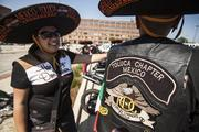 Riders at the Harley-Davidson headquarters from Mexico