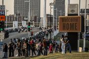 The Harley-Davidson Museum was a popular place for riders on Thursday.
