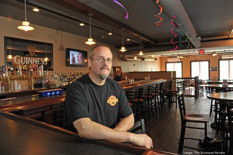Nico's Rooftop Tavern owner Phillip Ruggerio in his new second-floor dining room. He says he was inspired to invest in Schenectady, NY, after seeing the revitalization of downtown.