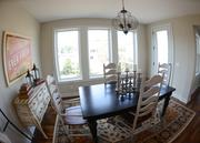 The dining room and rest of this Gonyea Homes house was staged.