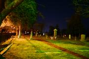 The cemetery across the street from the church was also filmed for the movie.