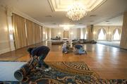 Renovation of the Grand Ballroom at the Seelbach Hotel included replacing the carpet.