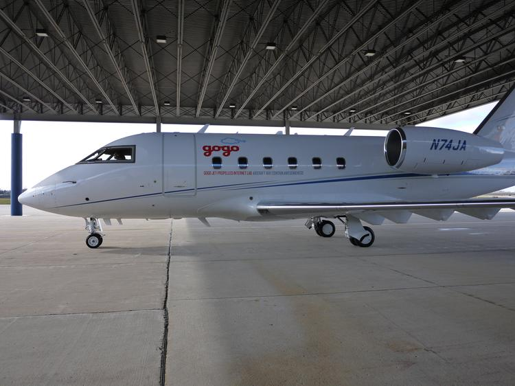 Gogo maintains its own jet plane to test new Wi-Fi technologies.