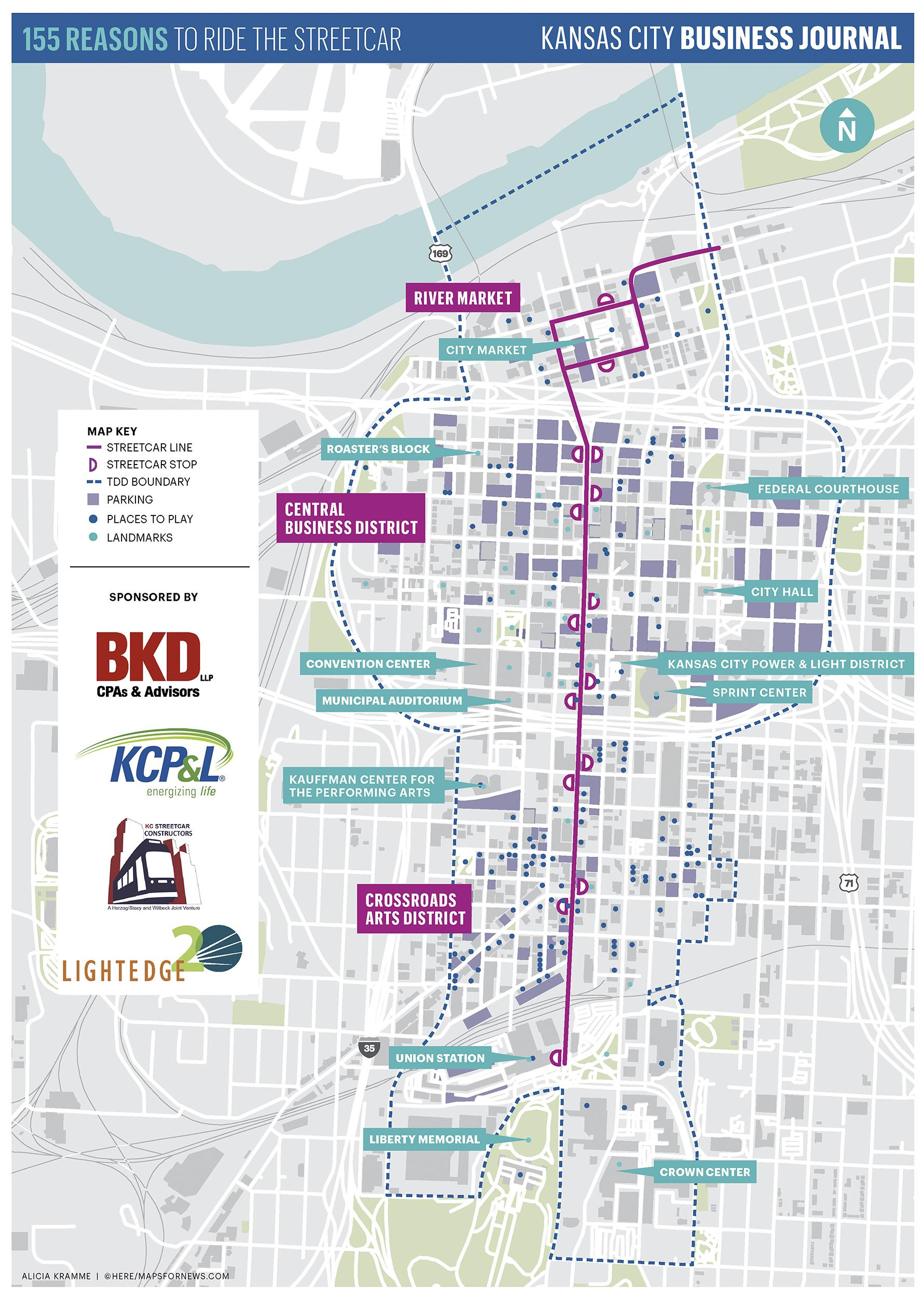 Kansas City Streetcar: Map shows where to play - Kansas City ...
