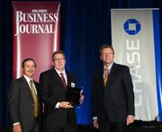 Wharton-Smith owner and CEO Ron Davoli accepts the No. 9 award in the Ultimate 11 list.
