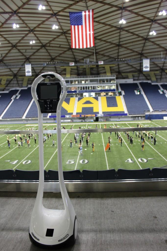 Mayo Clinic's telemedicine robot will head to Northern Arizona's football field this fall as part of a concussion study.