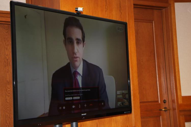 Michael Levi with the New York-based Council of Foreign Relations discussed international energy trade with Texas lawmakers via Skype on Monday.