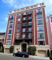 This building at 2140 Pacific Ave. includes 27 units built in 1929 with large units, fireplaces and views of the Golden Gate Bridge.