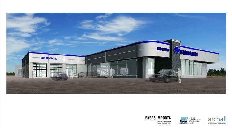 Byers is converting the old Audi building into a new Subaru facility that will open in June.