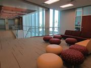 A lounge area on the second floor of the Sun Devil Fitness Complex.